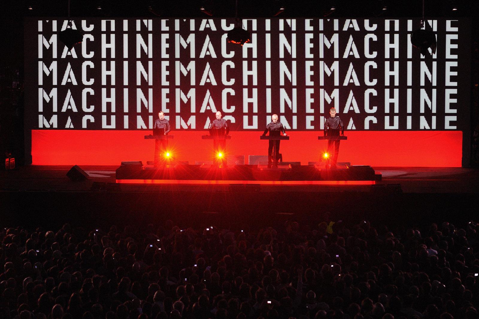 Kraftwerk performing at the opening concert of Flow Festival 2009