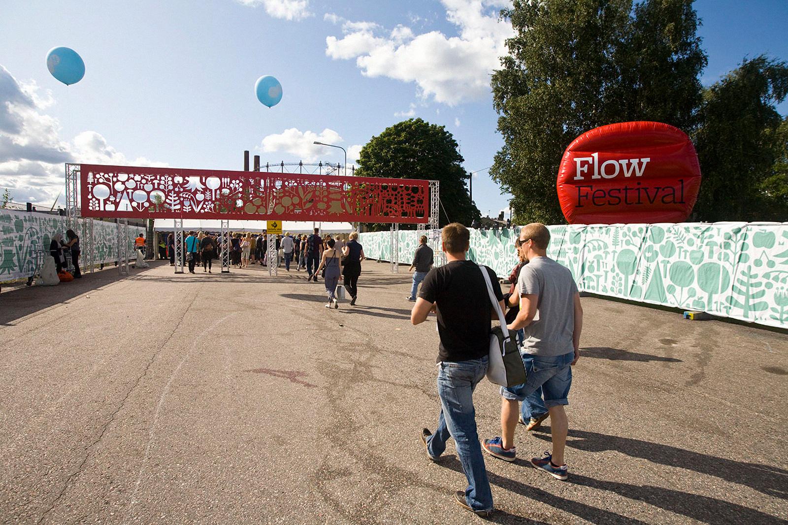 Flow Festival's entrance in 2009