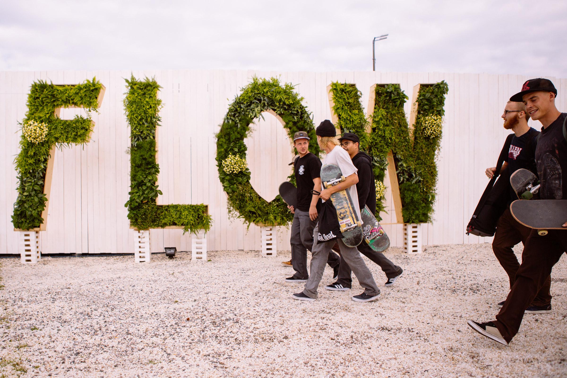 Living Flow art piece at Flow Festival 2013