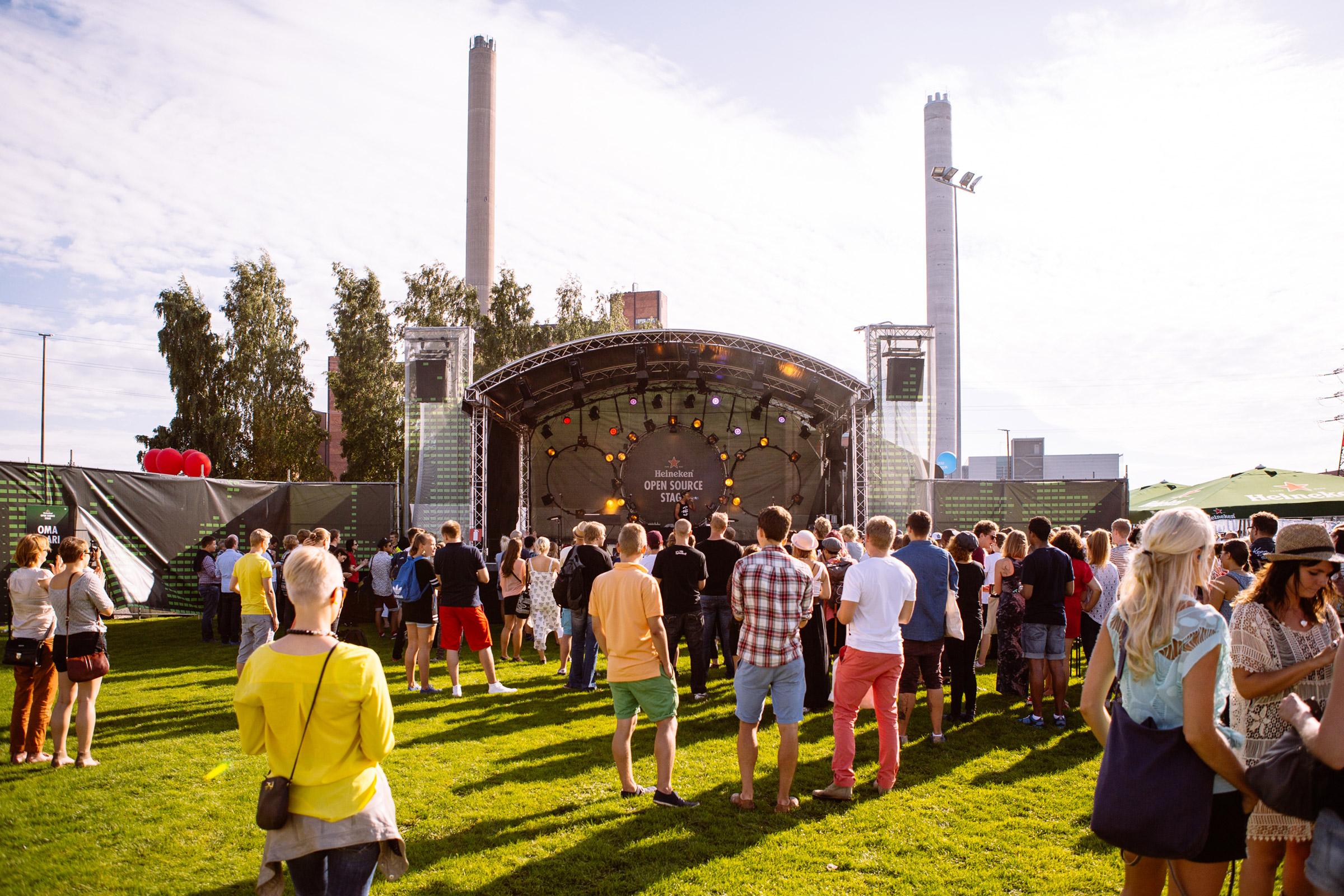 Heineken Open Source Stage at Flow Festival 2013