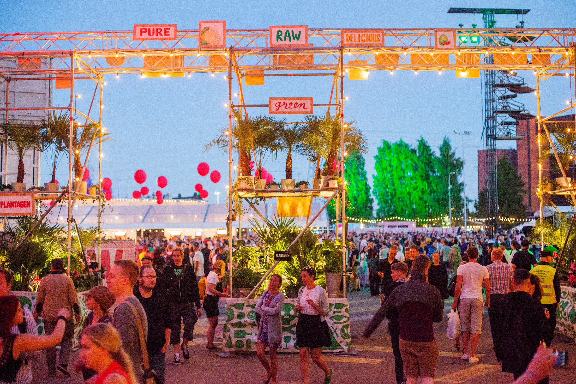 Eden area at Flow Festival 2015