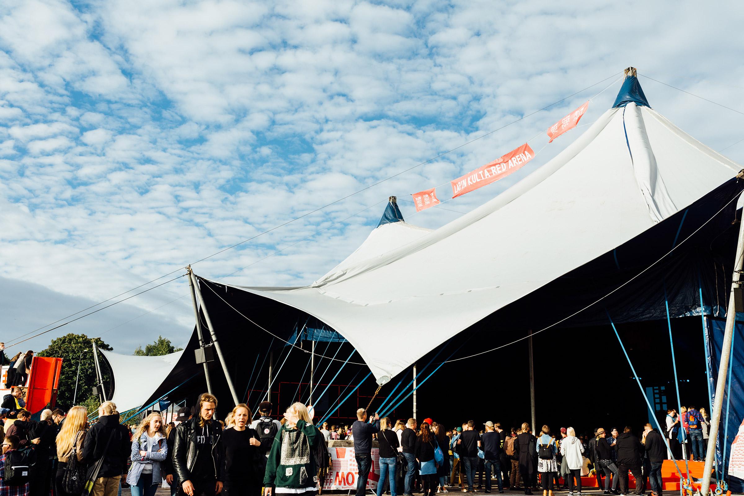 Huge Lapin Kulta Red Arena stage