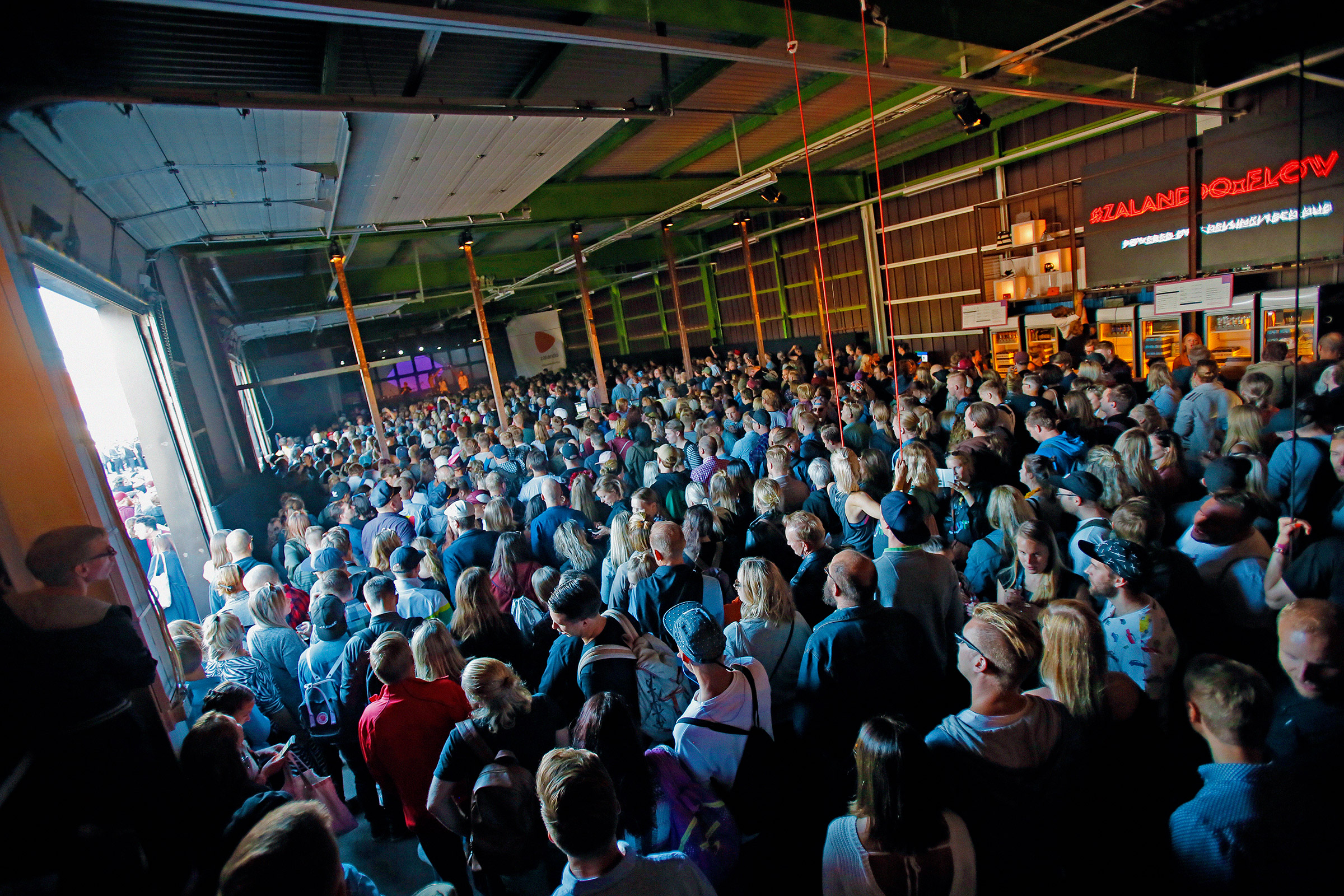 Zalando Factory stage and audience